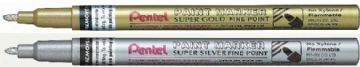 2 x PENTEL SUPER FINE POINT PAINT MARKER PEN (MSP10) GOLD/SILVER or Mixed